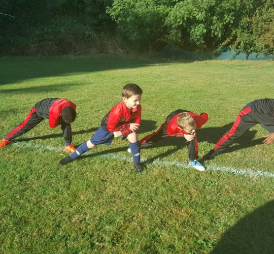 Under 8 Warm-up Session